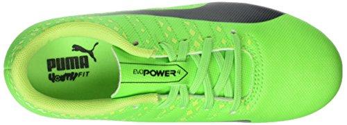 Puma Evopower Vigor 4 Ag Jr, Scarpe da Calcio Unisex – Bambini Verde (Green Gecko-puma Black-safety Yellow 01)