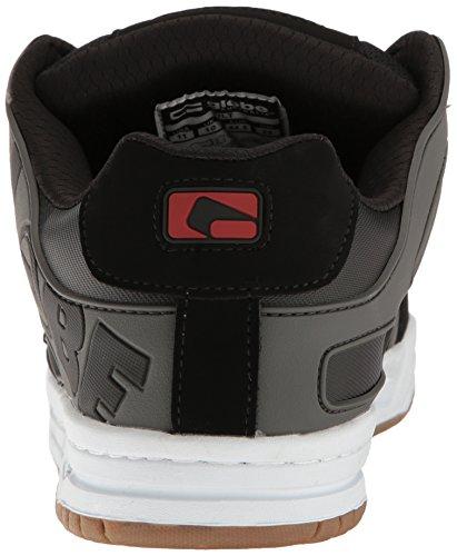 Globe Tilt Herren Nubukleder Skateschuh Black/Charcoal/Red