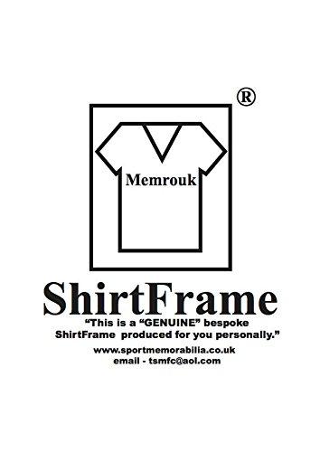 Frame For Football Sports Shirt BLACK FRAME WHITE MOUNT NP