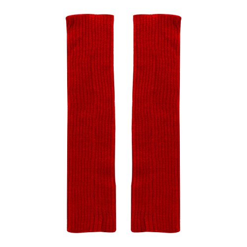 One size , Red : Bodhi2000® Ladies Womens Winter Leg Warmers Knee High Knit Toppers Boot Cuffs