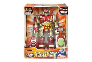 EXTREME FIGHTER INFRARED 11 inch REMOTE CONTROL FIGHTING ROBOT BY CYBOTRONIX. by Cybotronix