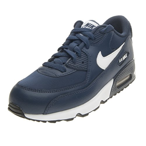 Nike Air Max 90 Mesh (Ps), Chaussures Garçon Bleu - Azul (Azul (Midnight Navy / White-Black))
