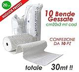 BENDE GESSATE PRESA RAPIDA safeline CAST - mt3x10 /3x15/3x20cm (mt 3 x 20 cm - 10 pz)