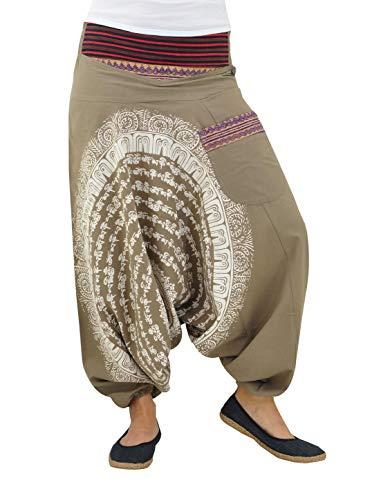 9035b4e7be6ae virblatt Pantaloni alla Turca Donna Pantaloni Etnici Larghi Donna Harem  Pants Yoga - Nirvana Tank SM