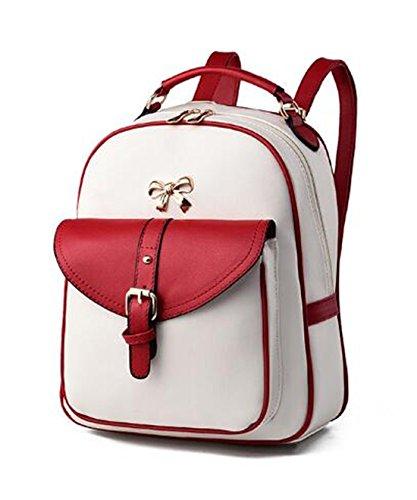 Mefly Donne Zaini In Pelle Nero Solido Rosa Mosaico Rosso Bianco Red white