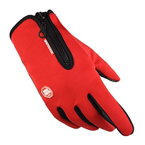 TZQ Touchscreen-Handschuhe, Für IPhone, IPad, Blackberry, Samsung, HTC, SONY, LG Und Andere Smartphones, PDAs Und Sat-Navis,Red-Palmcircumference18~20cm -