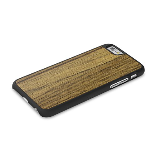 Cover-Up WoodBack bois noir mat pour iPhone 6 / 6s - Loupe d'orme des Carpate - Black Limba