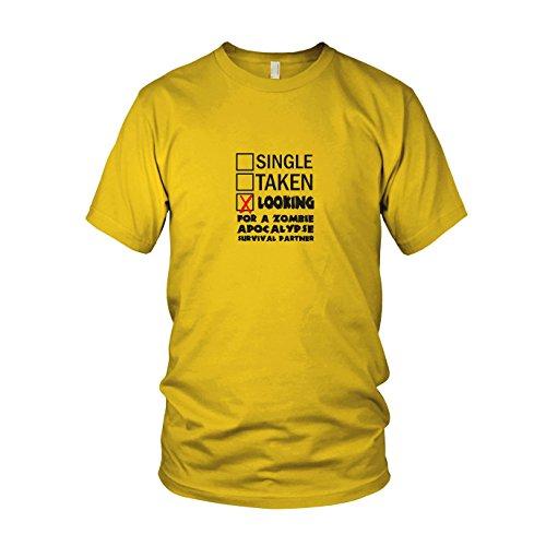 Looking for a Zombie Apocalypse Surival Partner - Herren T-Shirt Gelb