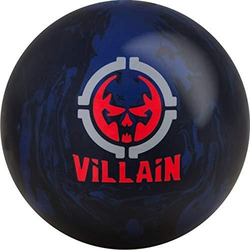 Motiv Villain, Schwarz/Blau/Rot Solid Oberfläche, Reaktiv Bowlingball für Einsteiger und Turnierspieler - Die Bowlingkugel Macht bei richtiger Spielweise EIN große Ballbewegung. Größe 14 LBS