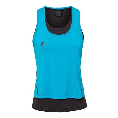 Izas Subia Camiseta sin Mangas para Running, Mujer, Turquesa/Negro, L