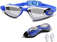 Swimming goggles, professional swimming goggles anti-fog and UV protection, adult males, females, children use
