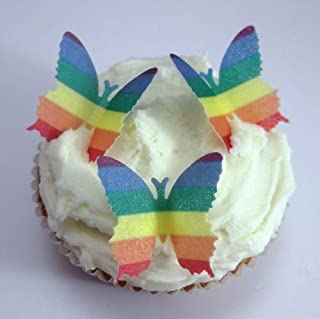 24 x Pre Cut Butterfly Butterflies Gay Pride Rainbow LGBT Flag Fairy Muffin Cup Wedding Cake Toppers Decoration Edible Rice Wafer Paper (B00CYI4MG4) | Amazon price tracker / tracking, Amazon price history charts, Amazon price watches, Amazon price drop alerts
