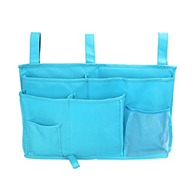 Pinji 8 Pocket Beside Caddy Bag Multipurpose Room Organiser Hanging Storage Holder for Nursery Tissue Phone Bedroom Cabin Beds
