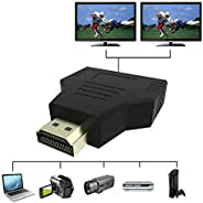 DishyKooker For HDMI 1-in-2 Out 1080P HDMI Splitter Adapter Converter For P/S/4 Xbox HDTV Projector