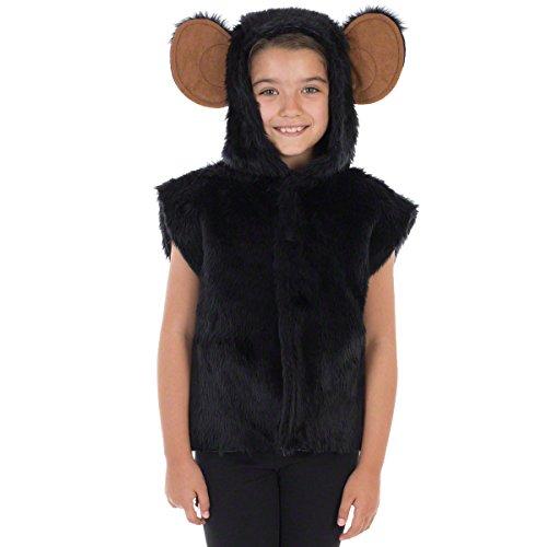 Schimpanse / Affen Kostüm Für Kinder - Einheitsgröße 3-9 (Für Mädchen Kostüme Affe)