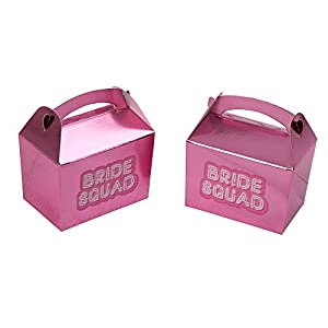 Neviti- Bride Squad Mini Favour Box-10 Pack Caja de regalo, Color rosa, 8 x 5.5 x 10.6 (776070)