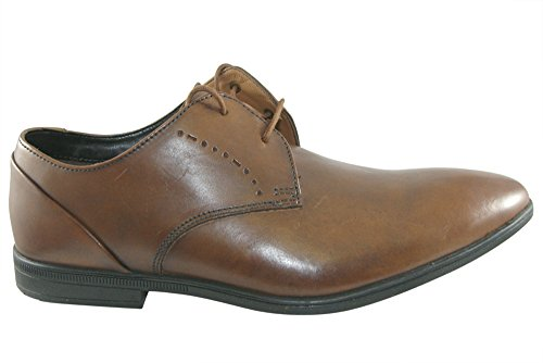 Clarks Bampton Lace, Derby Homme, Marron (Tan Leather), 44 EU