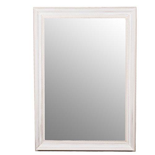 Belssia Espejo, Blanco Lavado, 75x3.5x105 cm