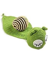 Bambino appena nato Cutest Lumaca Knit Crochet Abbigliamento Beanie Hat  Outfit Foto Puntelli Fotografia pagliaccetto del 8bb068cc67cc