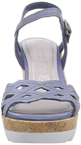 Marco Tozzi Premio 28371, Sandale femme Bleu - Blau (Denim Antic / 812)