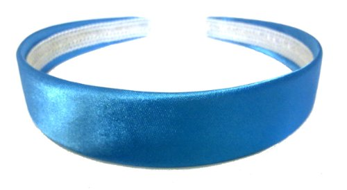 aliceband - bunte Ebene 2.5cm breit Satin Haarband Haarreif[blau]