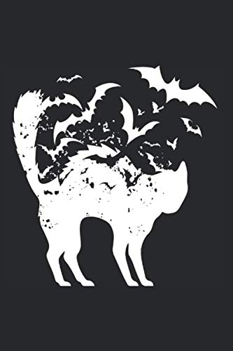 Notizbuch: Halloween Katze Fledermaus Notebook A5 liniert I Trick or Treat Geschenk I Grusel Tagebuch oder Journal