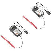 2 Pcs FlySky FS-R6B 2.4Ghz 6CH Receptor por FlySky TH9X FS-CT6B FS-T6 Transmisor