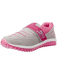 SHC Womens Pink/Grey Mesh Casual/Running Jogging (With Hook & Loop Fastner) Sports Shoes