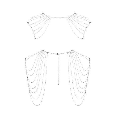 Bijoux Indiscrets Magnifique - Schulterkette als edler Körperschmuck, silber