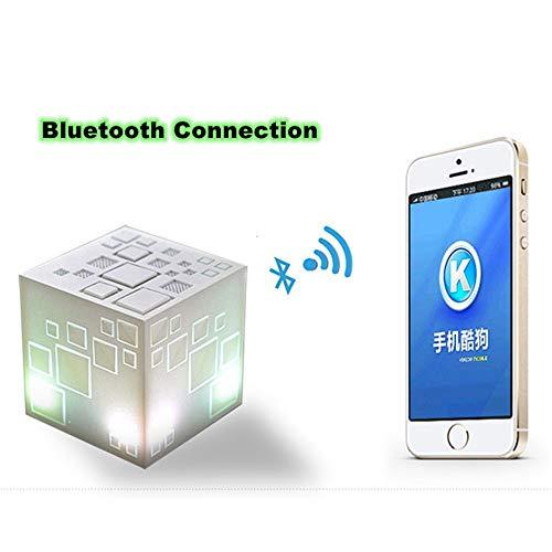 Yafei Drahtlose 4.0 Bluetooth Lautsprecher Rubik es Cube Bluetooth Portable Card Mini Speaker LED Subwoofer 3D Surround Subwoofer Stereo Speaker Dust Sound Quality Pure Powerful Life