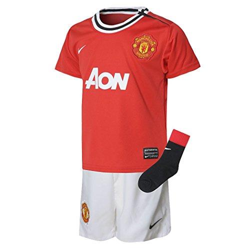 Nike Manchester United Home kit 3pezzo neonati Red/Wht/BLK calcio, 18-24 mesi