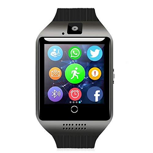 ZZASS Bluetooth Smart Watch Touchscreen Smartwatch Smart Armbanduhr Telefon Fitness Tracker mit SIM TF Karten Slot Kamera Schrittzähler für iOS iPhone Android Samsung LG Frauen Männer Kinder (Schwarz)