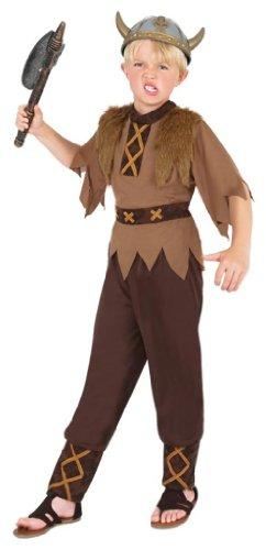 Costume Carnevale Travestimento Vichingo guerriero Obelix cartoni - bambino