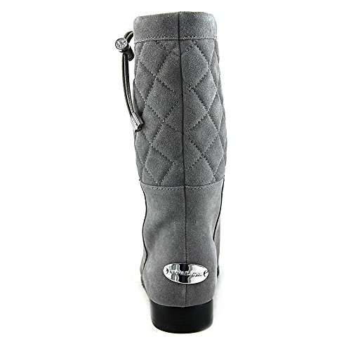 Michael Michael Kors Lizzie Quilted Boot Rund Mode Mitte Calf Stiefel Steel Grey