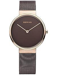 Bering Unisex-Armbanduhr Analog Quarz Edelstahl beschichtet 14539-262
