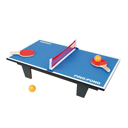 """Tischtennis \""""Ping Pong\"""" aus Holz, Gesellschaftsspiel auf jedem Tisch oder dem Fußboden spielbar, schult die Geschicklichkeit und Motorik, schnell und leicht aufzubauen, inkl. 2 Bällen, ab 5 Jahren"""