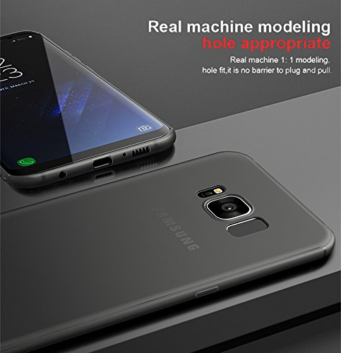 Samsung Galaxy S8 Plus Case [Perfect Fit] [Black] 0.4MM Samsung Galaxy S8 Plus Case Anti-Slip Matte Coating for Excellent Grip Thin Hard Protective PC Snap Case Covers for Samsung Galaxy s8 Plus [NOT FOR SAMSUNG GALAXY S8] – BLACK