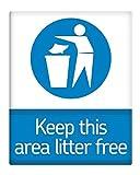 Keep diesem Bereich Katzenstreu Kostenlose metall Schild 25,4x 20,3cm selbstklebend 150