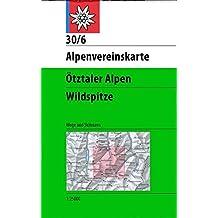 Ötztaler Alpen, Wildspitze: Wege und Skitouren - Topographische Karte 1:25.000 (Alpenvereinskarten)