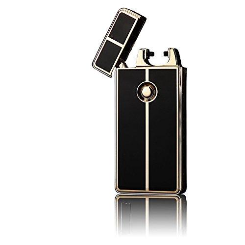 Glovion Classique Style USB Briquet Arc électrique Rechargeable Briquet -Gold