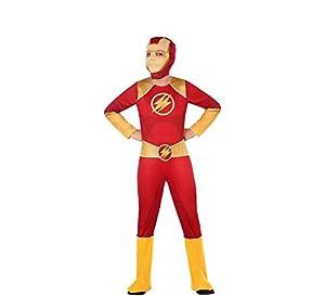 Atosa-56943 Disfraz Héroe Comic, Color Rojo, 10 a 12 años (56943