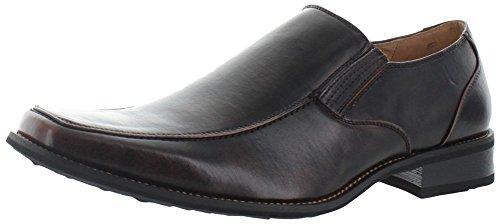 Leather Square Toe Mokassins (Moda Essentials , Herren Mokkasins Braun braun)