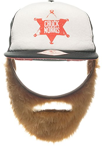 Holzfäller Kostüm Bart - Mütze Chuck Norris inkl. Bart