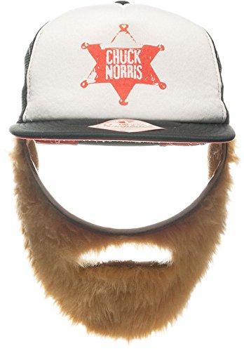 Einfache Jack Kostüm - Mütze Chuck Norris inkl. Bart