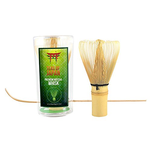 Price comparison product image Teas Of Japan® Premium Matcha Whisk, Spoon and Matcha Green Tea 10g Pack - The Ultimate Matcha Starter Set