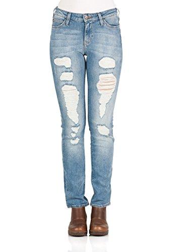 Lee Damen Jeans Elly High - Slim Fit, Größe:W 29 L 31, Farbe:Urban Trash (EP) - Lee Wrangler-jeans