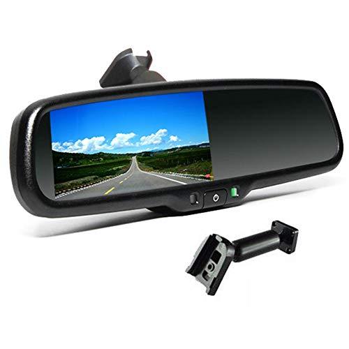 Leap-G 4,3 Zoll Auto Rückspiegel Monitor DVD Player Tragbarer TV System Bildschirme Kopfstützenmonitor Autopaket Fernbedienung Mit Spezieller Halterung (Auto-tv-dvd-monitore)