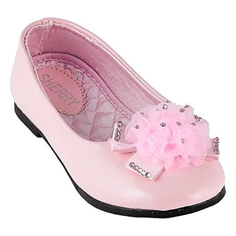 Sherry Kinder Ballerina (36, #500 Rosa mit Steine)