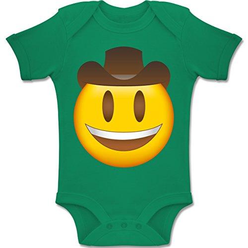 Baby - Emoji Cowboy-Hut - 3-6 Monate - Grün - BZ10 - Baby Body Kurzarm Jungen Mädchen (Grüne Cowboy-hut)