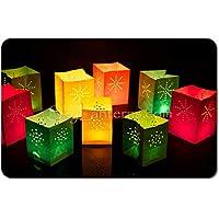 Bolsa portavelas (12 unidades, tamaño mini y mediano) de colores variados de alta calidad